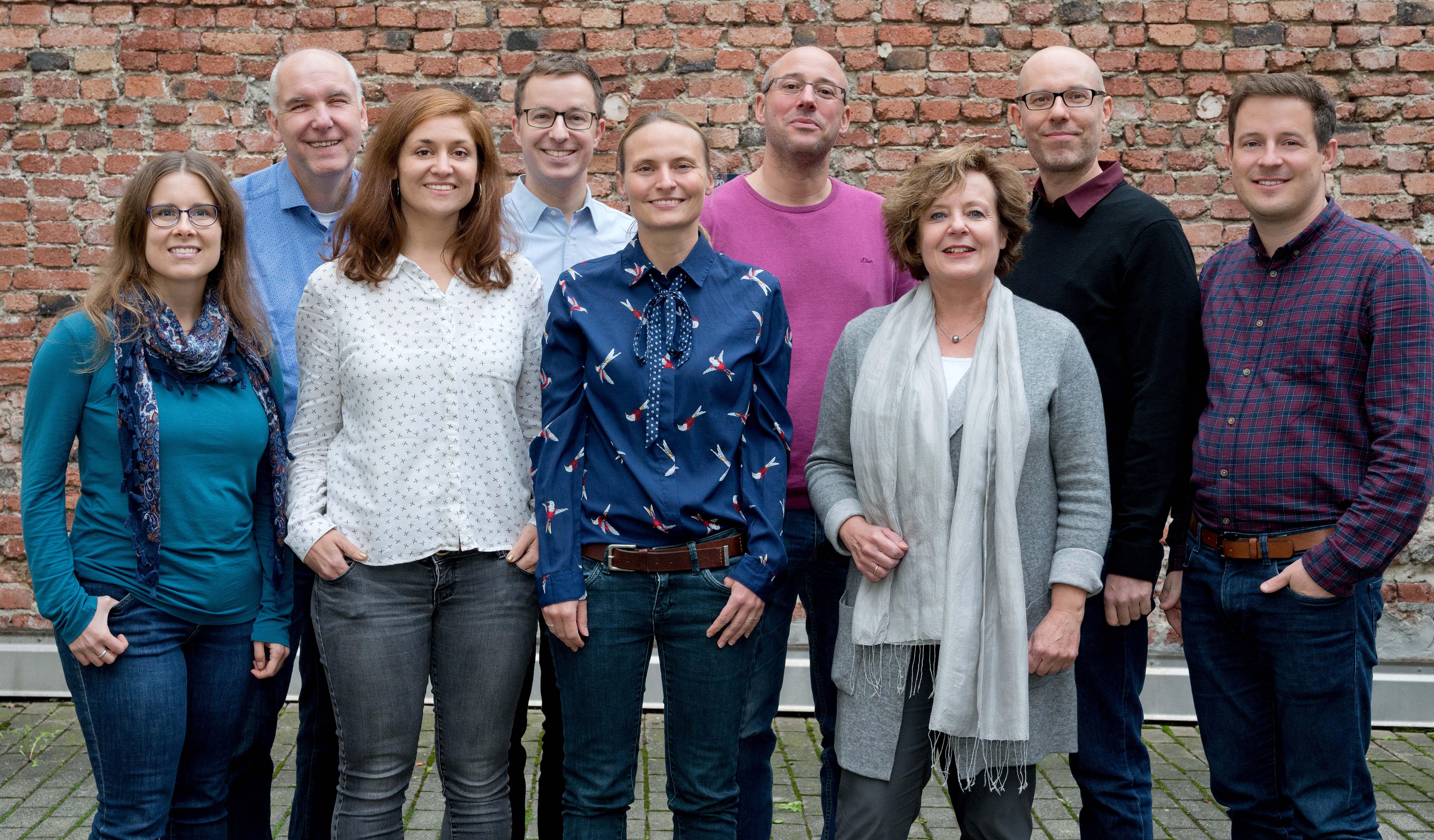 V.l.n.r.: Michaela Bode (et), Dr. Karl Weber (AKSB), Rebecca Arbter (AdB), David Brixius (AKSB), Hanna Lorenzen (et), Sebastian Bock (AdB), Barbara Menke (bap/AL), Mark Medebach (et), Ole Jantschek (et). Foto: Anette Hammer